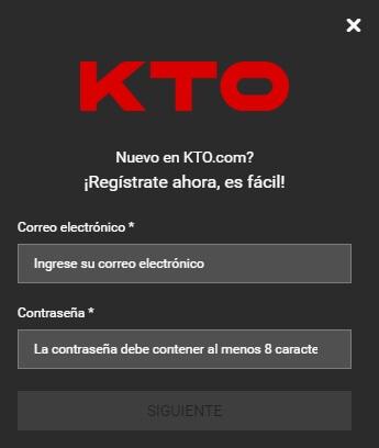KTO Registrate ahora