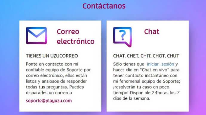 PlayUZU Atención al Cliente